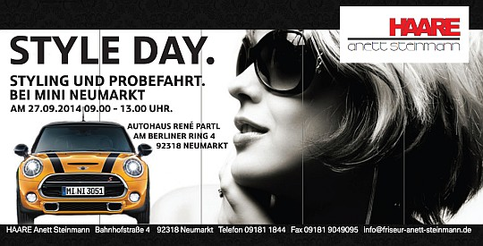 Flyer zum STYLE DAY. am 27.09.2014